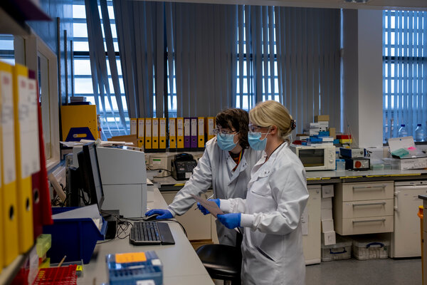 Testing of the AstraZeneca vaccine in Oxford, England, in November.