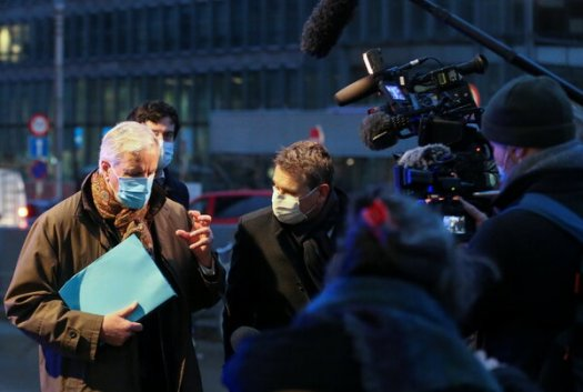 Michel Barnier, the European Union's chief negotiator on Brexit, speaking to reporters Monday morning in Brussels. Talks with Britain on a trade deal are continuing.