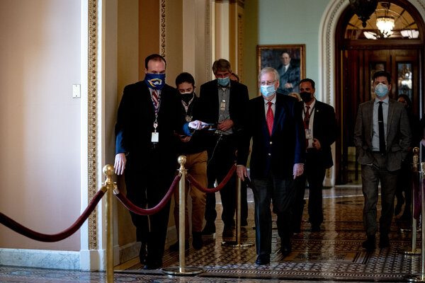 Senate Majority Leader Mitch McConnell all but ignored the Electoral College proceedings on Monday.