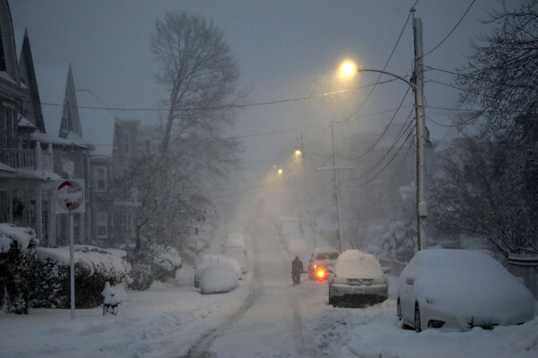 More snow was expected in Boston on Thursday.