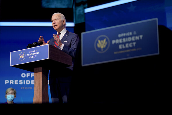 """President-elect Joseph R. Biden Jr. applauded the willingness of lawmakers to """"reach across the aisle"""" and called the effort a """"model for the challenging work ahead for our nation."""""""