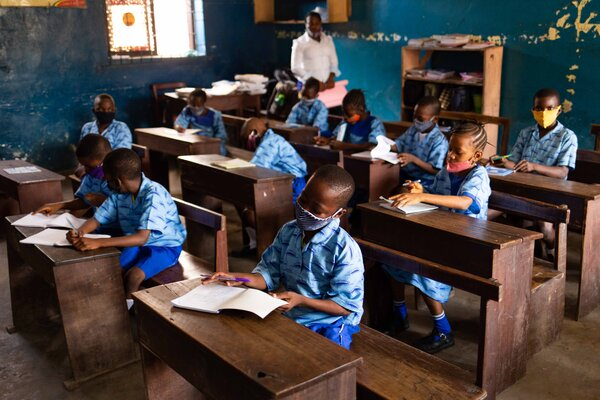 Students in Lagos earlier this year.