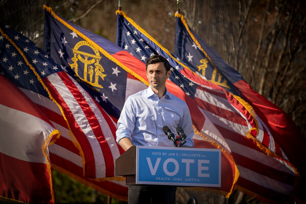 Jon Ossoff is seeking one of two Senate seats in Georgia that will be decided in a runoff election on Jan. 5.