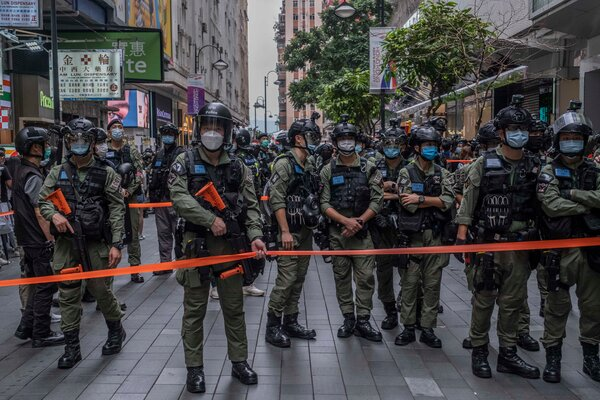 European leaders have criticized China for reining in dissent in Hong Kong.