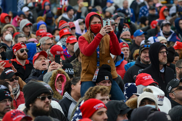 The crowd that gathered at President Trump's rally, before members stormed Congress, was filled with Trump merchandise. At least two online stores associated with the president were shut down on Thursday.