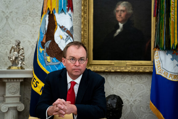 Mick Mulvaney at the White House in 2019. Mr. Mulvaney has resigned from his position as a special envoy to Ireland.