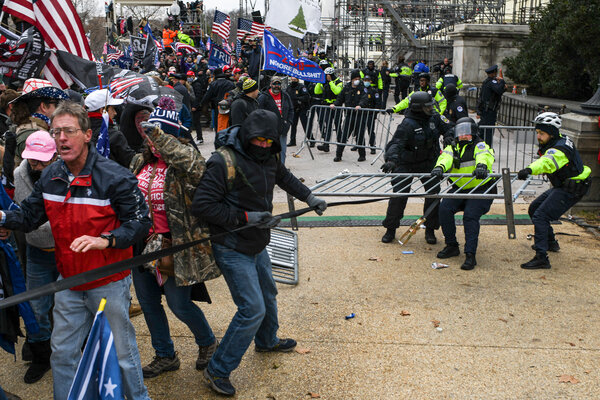 A pro-Trump mob clashed with Capitol police officers during a rally in Washington on Wednesday to contest the certification of the presidential election results.