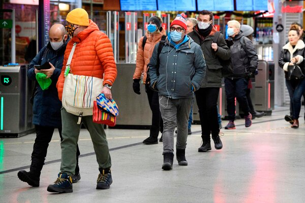 Transit passengers in Stockholm on Friday. Sweden is enacting more serious measures in the fight against the coronavirus as cases rise.