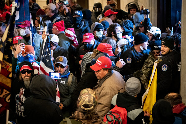 Pro-Trump rioters stormed the Capitol on Jan. 6.