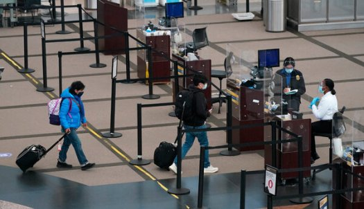 Airline travel has recovered somewhat since falling more than 95 percent in April, but it remains subdued.