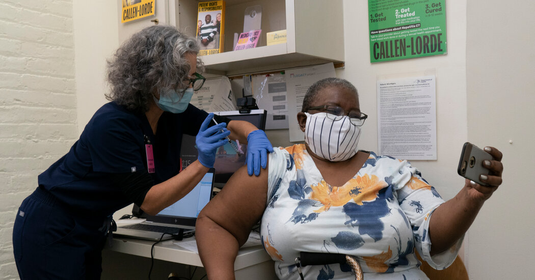 N.Y.C. will run out of its current vaccine supply on Thursday, the mayor says. It's not scheduled to get more until next week.