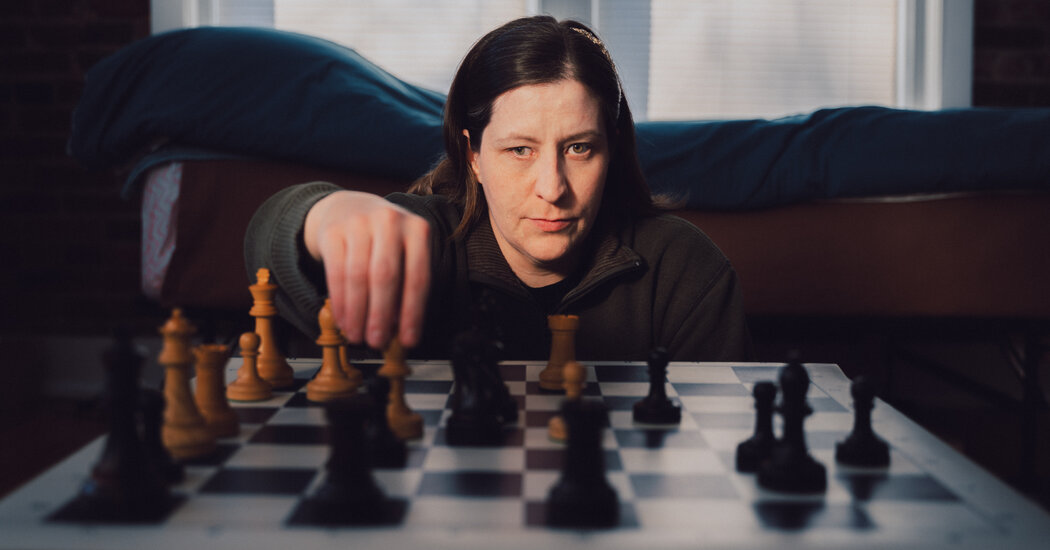 She's a Chess Champion Who Can Barely See the Board