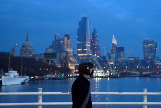 The skyline of London's financial district last week. After years of shunning British stocks, investors are having a change of heart.