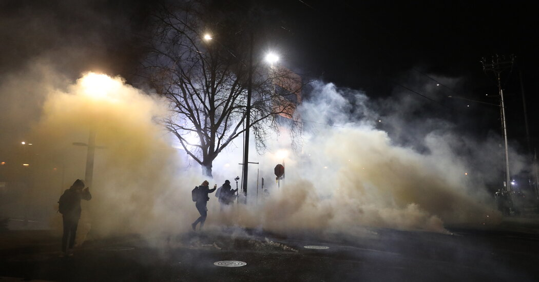 Hours After Biden Inauguration, Federal Agents Use Tear Gas in Portland