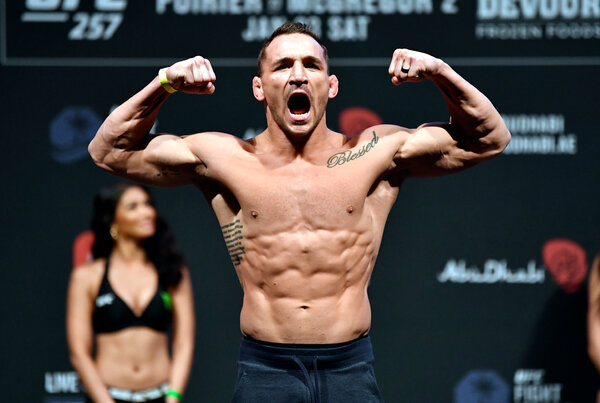 Michael Chandler during the weigh-ins on Friday.