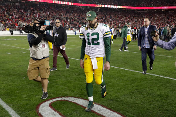 Green Bay quarterback Aaron Rodgers is 7-7 in the N.F.L. playoffs since leading the Packers to a Super Bowl win after the 2010 season.