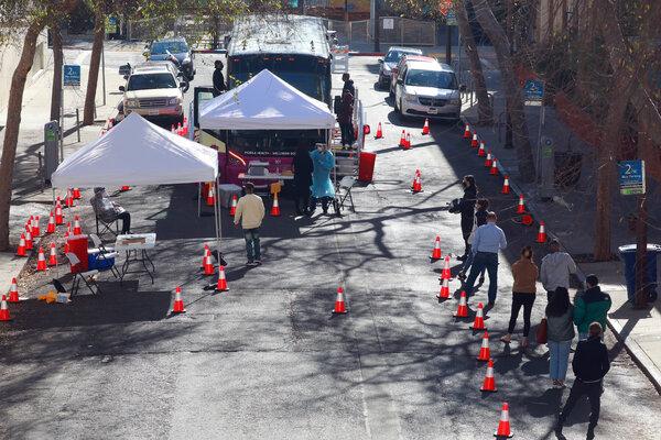 People waited in Berkeley, Calif., last week to be tested for the coronavirus.