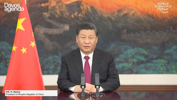 Xi Jinping, China's top official, did not mention former President Donald J. Trump by name, but took aim at his international policies.
