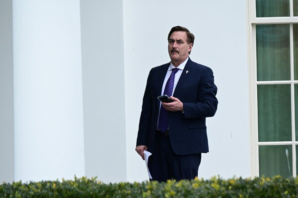 Mike Lindell, the chief executive of MyPillow, helped fund a bus tour that promoted Donald J. Trump's false election claims.