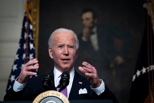 President Biden delivered remarks at the White House on Tuesday regarding the fight to contain the coronavirus pandemic.