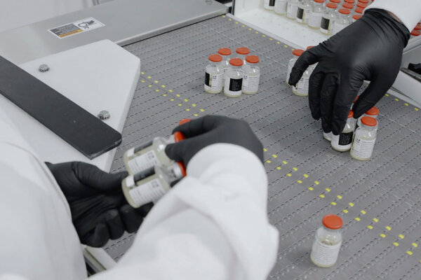 Vials of Regeneron Pharmaceuticals' antibody treatment