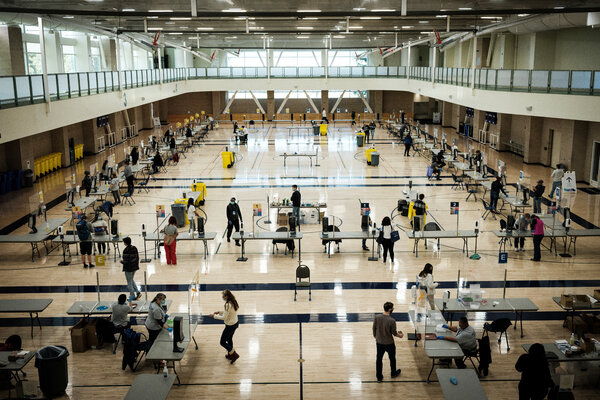 The student recreation center at University of California, Davis was turned into a mass testing site.