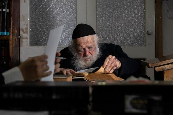 Rabbi Chaim Kanievsky at his home in Bnei Brak, Israel.