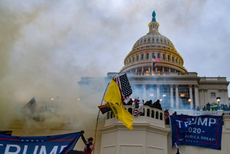 The president's supporters, emboldened by the lie of a stolen election, breached the halls of Congress to stop the certification of the vote.
