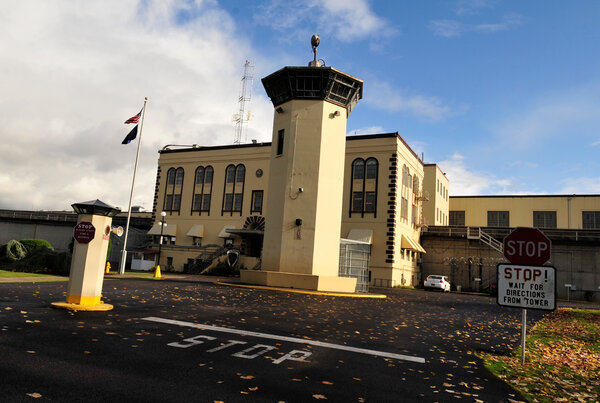 The Oregon State Penitentiary, in Salem, Ore., where some inmates have received Covid-19 vaccines.