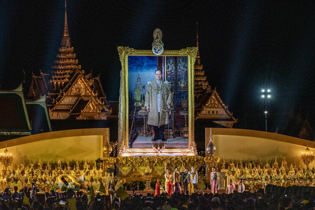 去年十二月在曼谷的一场纪念已故国王普密蓬·阿杜德诞辰的仪式。