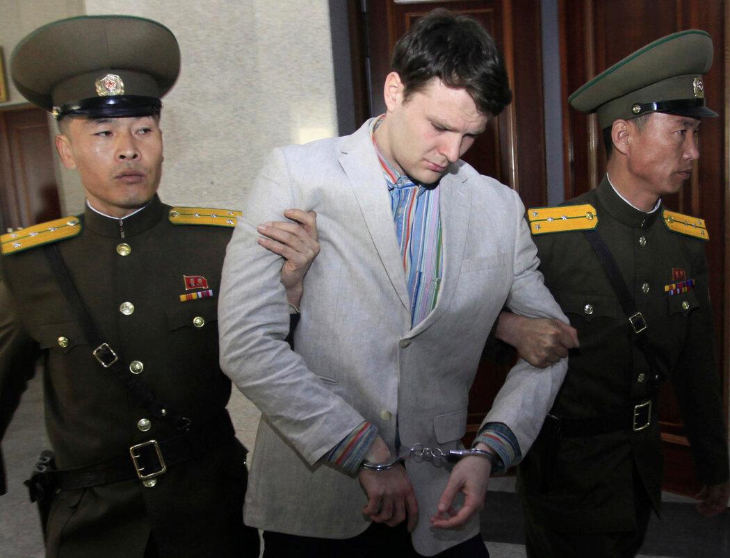 2016年3月,奥托·瓦姆比尔在朝鲜平壤最高法院。