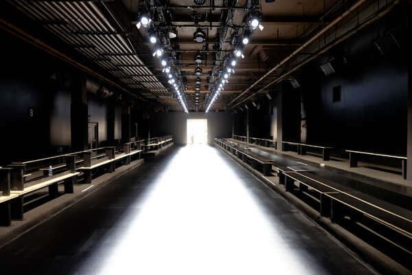 Real-life bleachers will remain empty for this round of fashion shows.