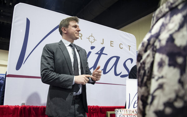 Founder of Project Veritas James O'Keefe during a conference in 2020.