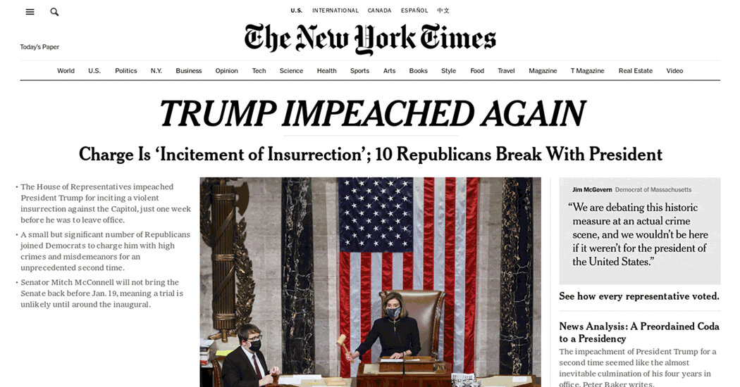 Banner Headlines for Tumultuous Times