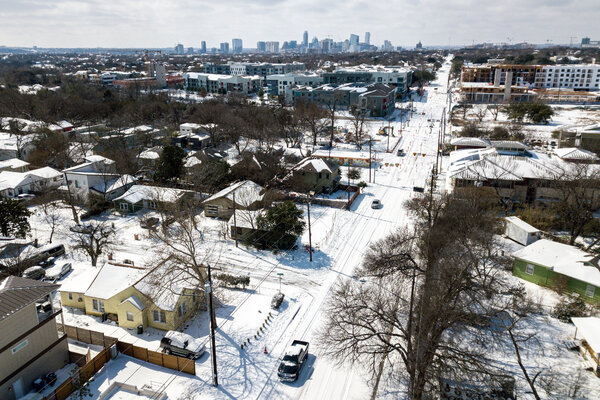 Austin, Texas, was blanketed by snow on Monday.