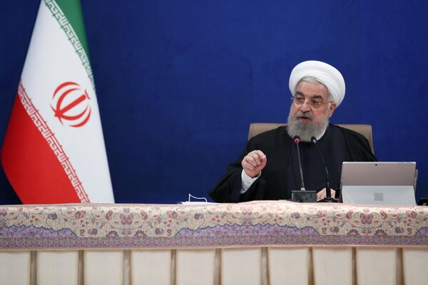 President Hassan Rouhani during a cabinet meeting in the capital Tehran.