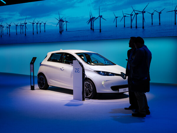 An all-electric Renault Zoe. Renault's chief executive, Luca de Meo, last month presented a plan to return the automaker to profitability.