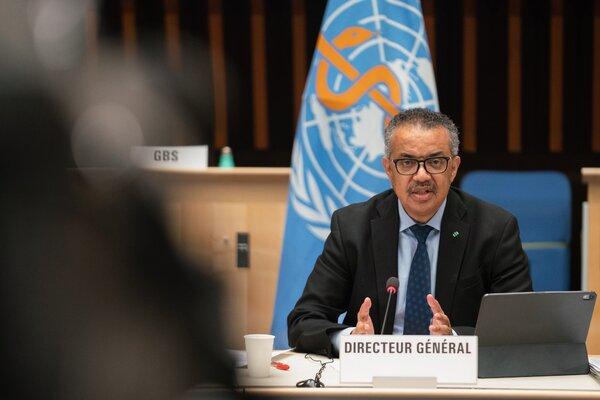 Tedros Adhanom Ghebreyesus, director general of the World Health Organization, speaking last month in Geneva.