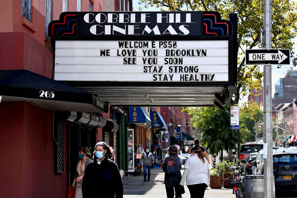 When movie theaters reopen in New York City, masks will be mandatory, and theaters must assign seating to patrons to guarantee proper social distancing.