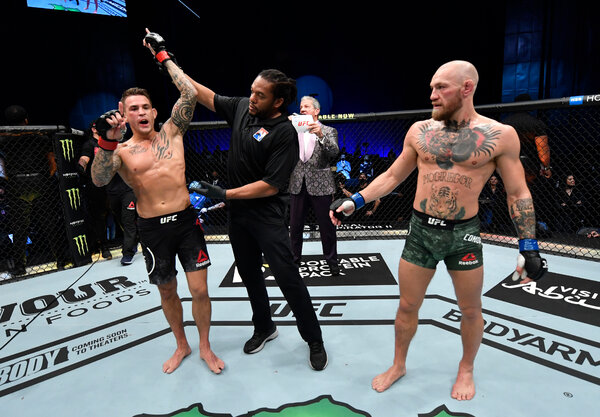 """Dustin Poirier said after the fight that he should be the lightweight champion. McGregor said he was """"gutted"""" by the loss."""
