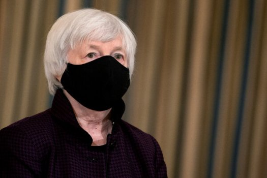 """Janet L. Yellen, the Treasury secretary, made clear that the United States was no longer taking an """"America First"""" approach to its relationship with the Group of 20."""