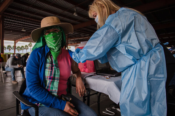 Thousands of farm workers are being pulled into pop-up vaccination clinics hosted by growers and run by the Health Department.