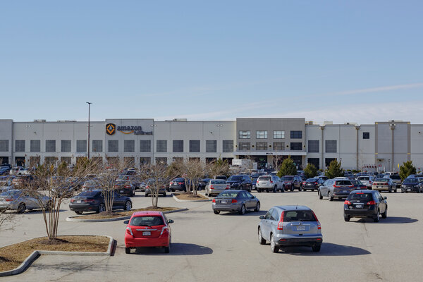 Amazon's warehouse in Chester, Va., where a union effort tried to organize about 30 facilities technicians in 2014 and 2015.