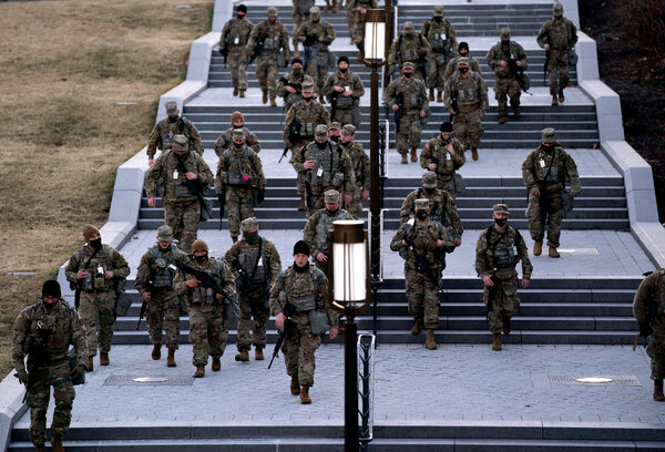 National Guard troops at the Capitol in Washington last week.