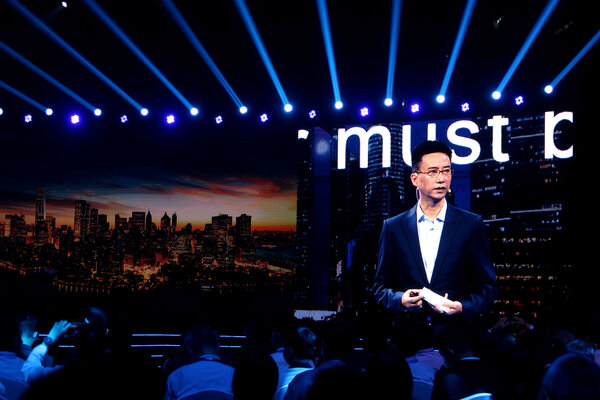 Simon Hu, the chief executive of Ant Group, at a conference in Shanghai in September. Mr. Hu asked to resign for personal reasons, the company said.