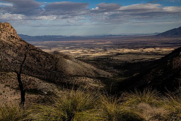 A view from the Montezuma pass at the Coronado National Memorial.