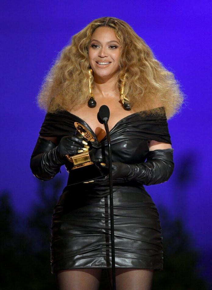"""Beyoncé became the female artist with the most Grammys ever when she won the best R&B performance award for """"Black Parade."""""""