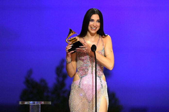 "Dua Lipa won best pop vocal album for""Future Nostalgia."""