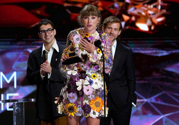 """Taylor Swift won album of the year for """"Folklore."""""""