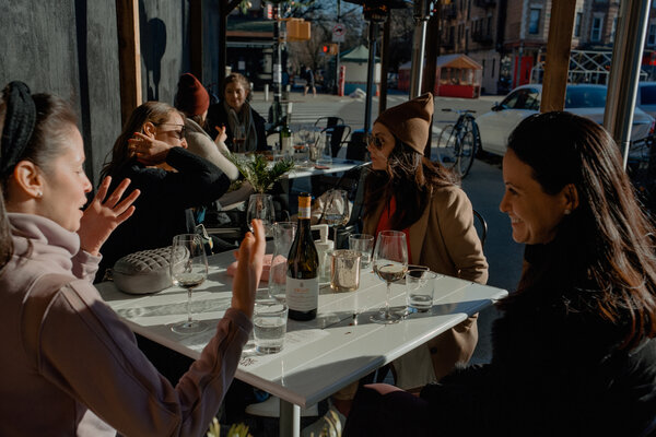 Restaurants transformed their outdoor dining spaces into areas where people could gather to connect amid isolation.